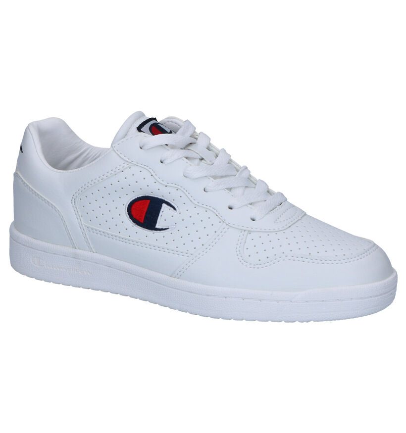 Champion Chicago Witte Sneakers in kunstleer (267037)