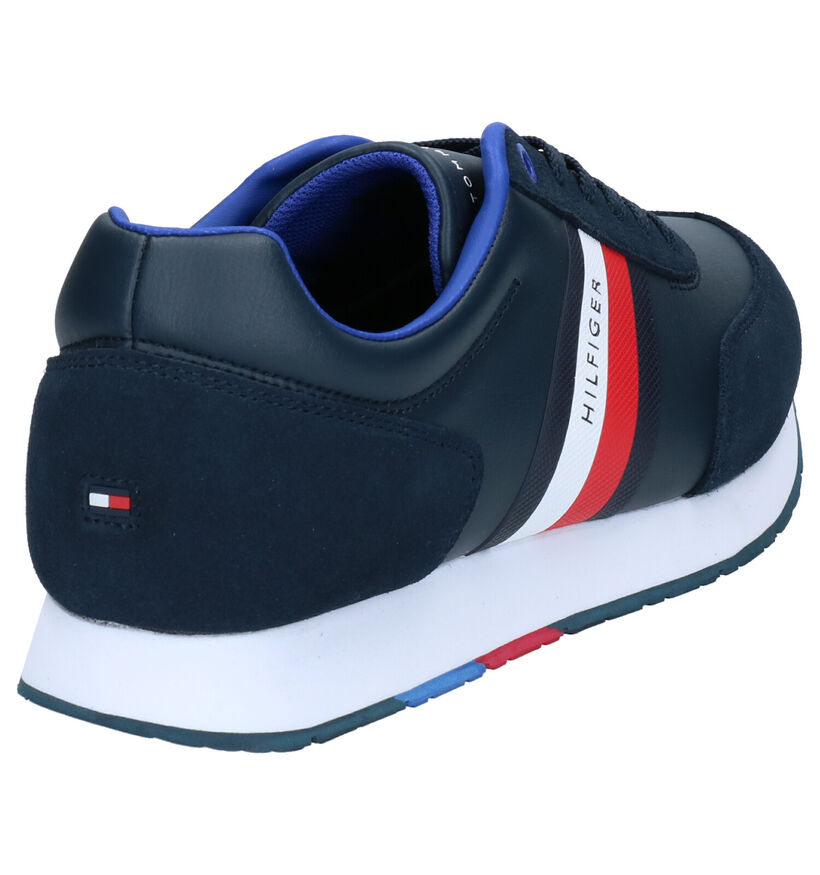 Tommy Hilfiger Corporate Leather Blauwe Sneakers in daim (264960)