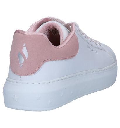 Skechers High Street Dotted Line Witte Sneakers in leer (264479)