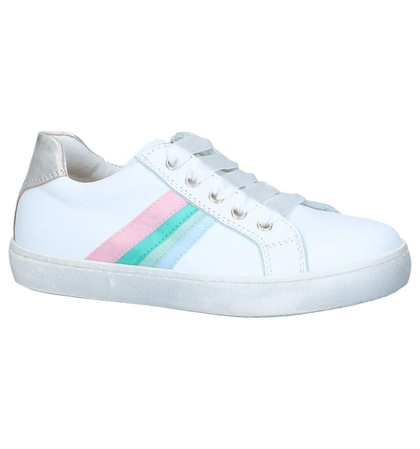 STONES and BONES Chaussures basses en Blanc en cuir (239883)