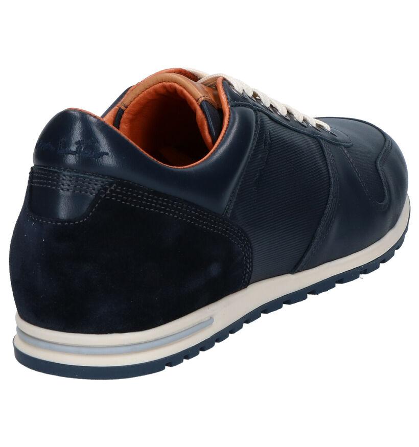 Van Lier Chaussures basses en Bleu foncé en cuir (272949)