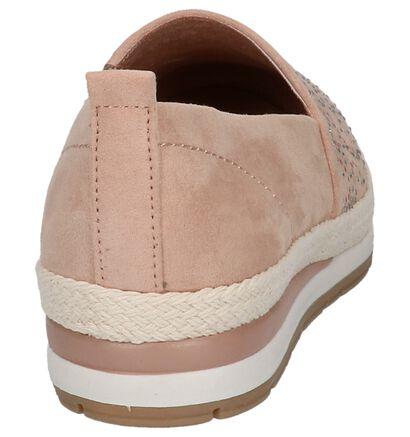 Marco Tozzi Chaussures slip-on en Rose en textile (214646)