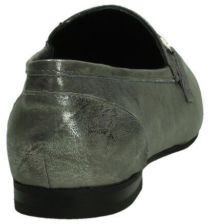 Omnio Zilveren Mocassin Metallic in nubuck (193023)