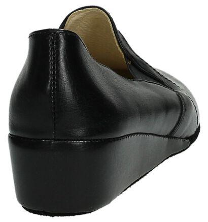 Lina Pantoufles fermées en Noir en cuir (112204)