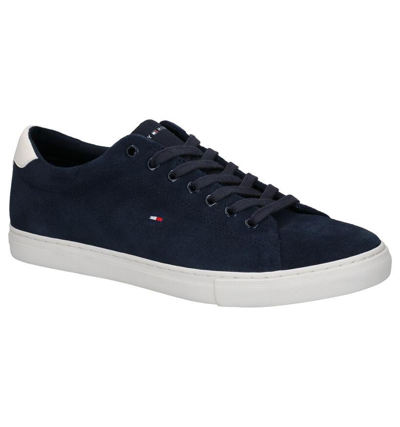 Tommy Hilfiger Seasonal Suede Vulc Blauwe Sneakers en textile (276229)