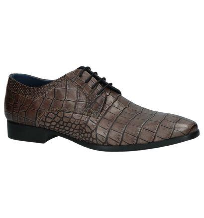 Ambiorix Chaussures habillées en Bleu foncé en cuir (220802)