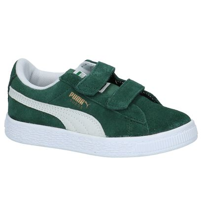 Lage Sportieve Sneakers Groen Puma Suede Classic PS in daim (209912)