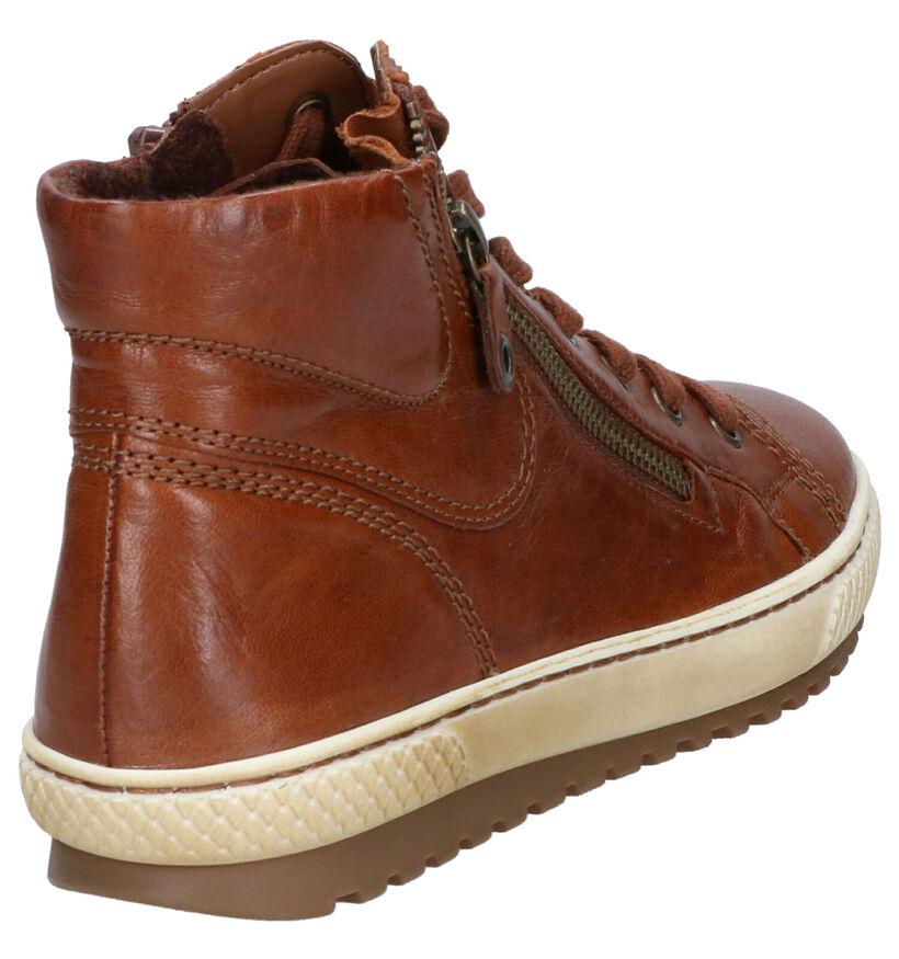 Gabor Cognac Sneakers in leer (254010)