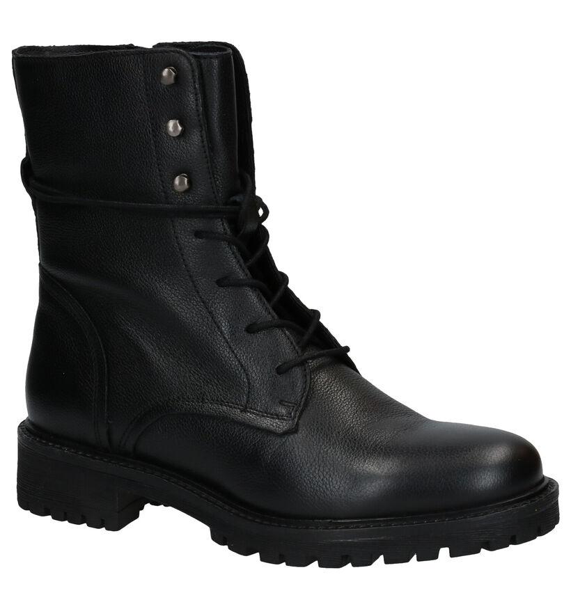 Geox Hoara Zwarte Boots in leer (278856)