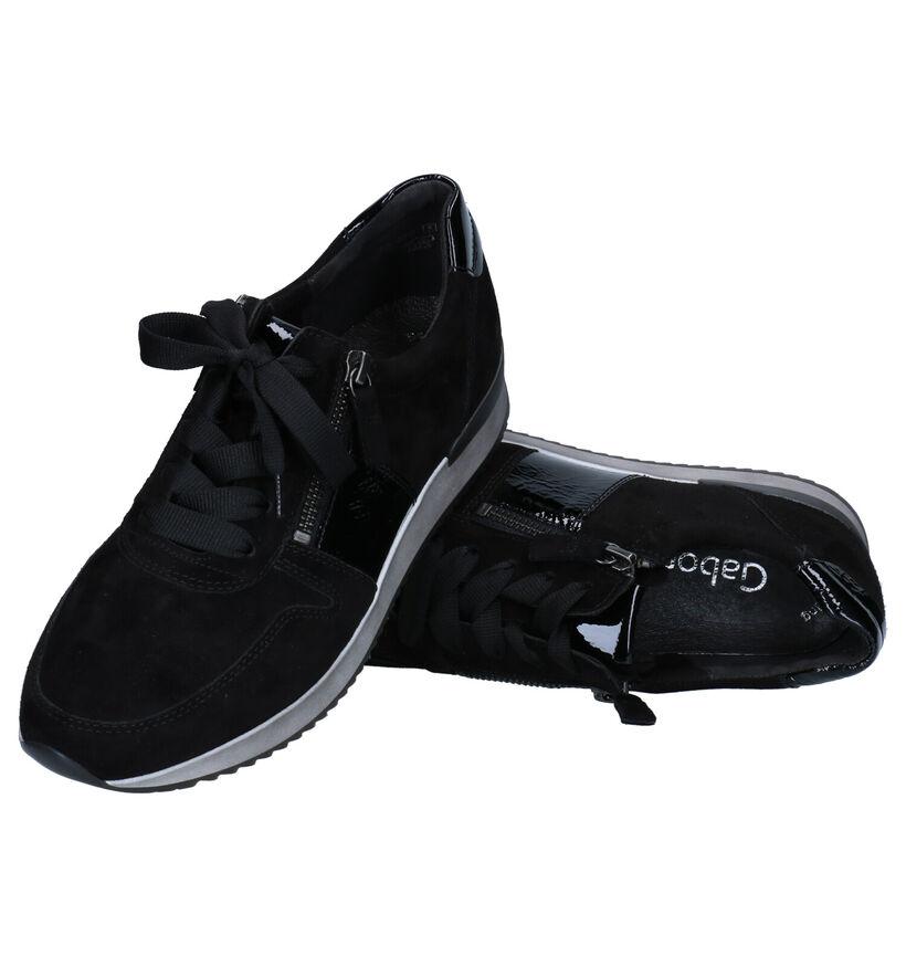 Gabor Best Fitting Chaussures à lacets en Noir en cuir (277803)