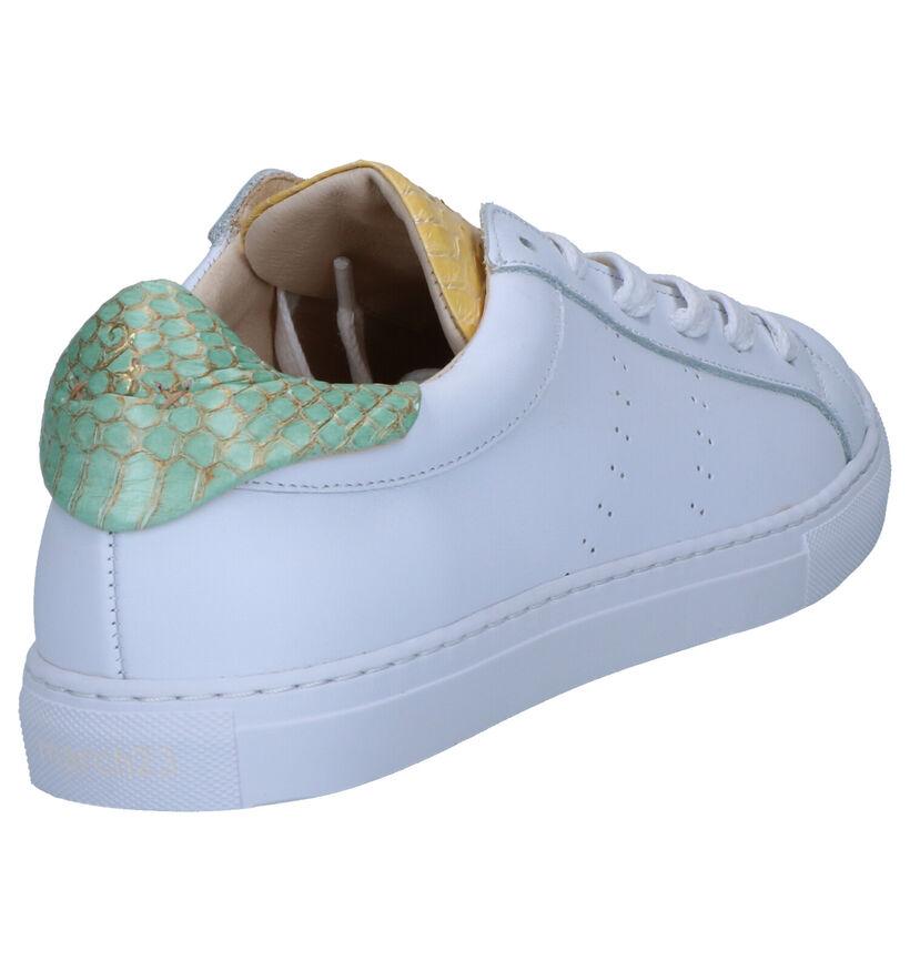 March23 Elmar Sneakers Wit in leer (269421)