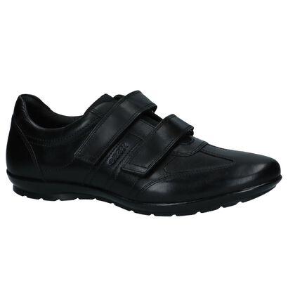 Geox Zwarte Velcroschoenen in leer (266704)