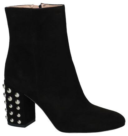 Zwarte Korte Laarzen met Hoge Hak Via Limone, Zwart, pdp