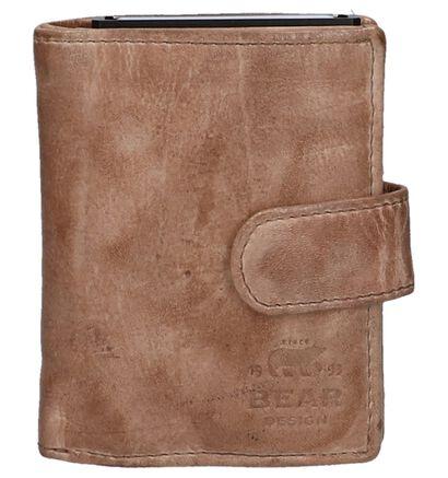 Bear Design Porte-cartes en Noir en cuir (263913)