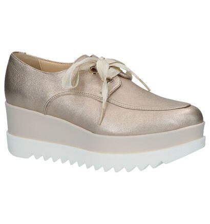 Louisa Chaussures à lacets en Or rose en cuir (220123)