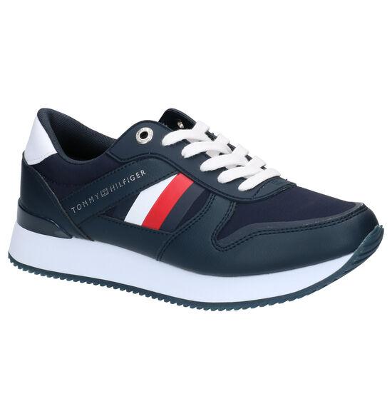Tommy Hilfiger Corporate Blauwe Sneakers
