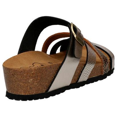 Bio Dream Nu-pieds plates en Or en simili cuir (266160)
