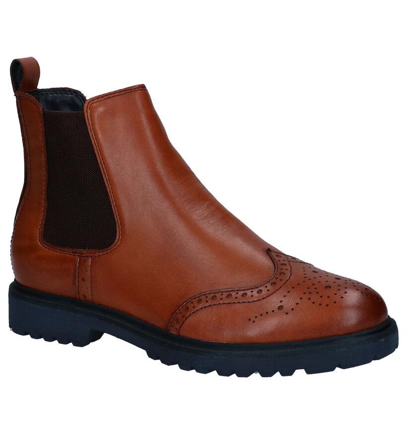 Tamaris TOUCH it Cognac Chelsea Boots in leer (280701)