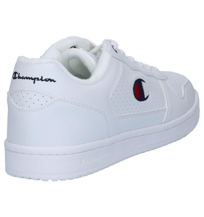 Champion Chicago Low Zwarte Sneakers in kunstleer (279080)