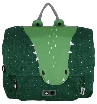 Trixie Mr. Crocodile Groene Boekentas in stof (265815)