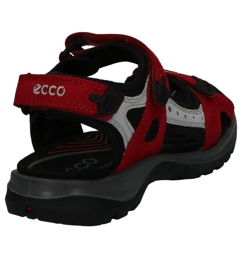ECCO Sandales plates en Rouge foncé en nubuck (275328)