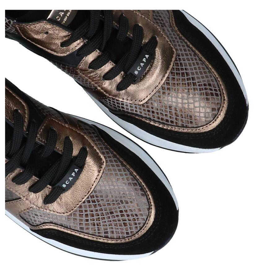Scapa Chaussures à lacets en Noir en cuir (281243)