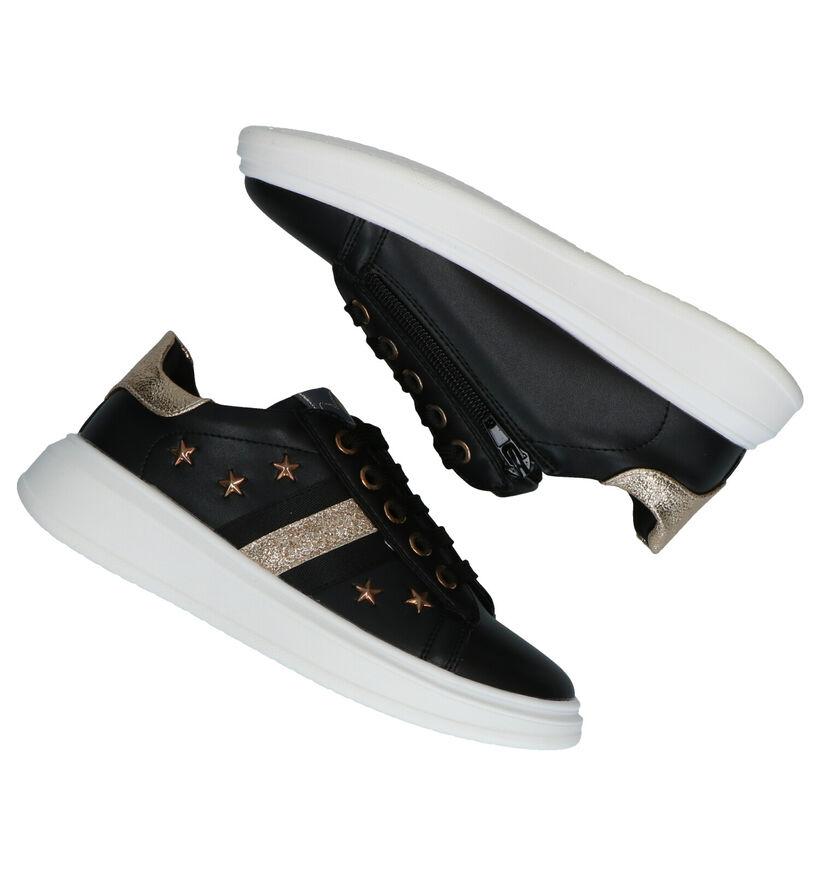 Asso Zwarte Sneakers in kunstleer (278458)