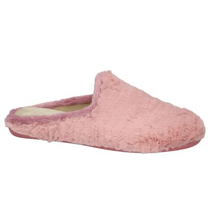 Koyuk Pantoufles ouvertes en Rose en textile (207842)