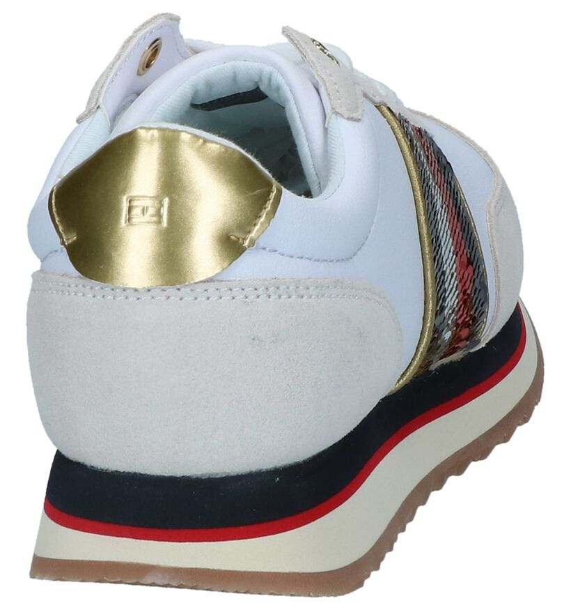 Witte/Ecru Sneakers Tommy Hilfiger in kunstleer (237250)