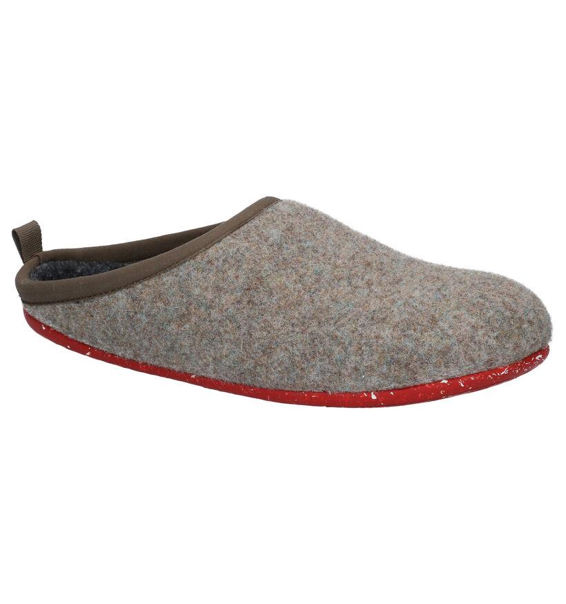 Camper Grijze Pantoffels in stof (282113)