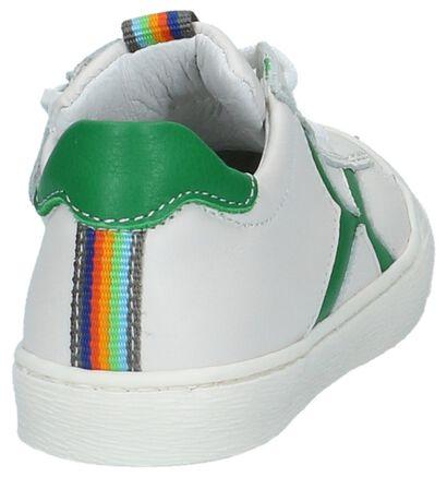 Witte Schoenen met Rits & Veter Poldino in leer (209242)