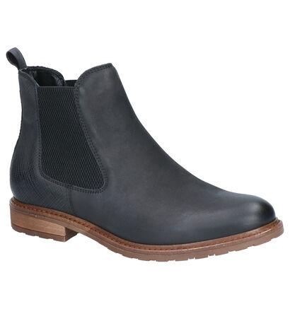 Tamaris Zwarte Boots in leer (257165)