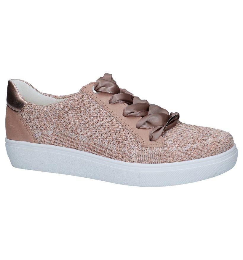 Ara Chaussures à lacets en Rose clair en cuir (240914)