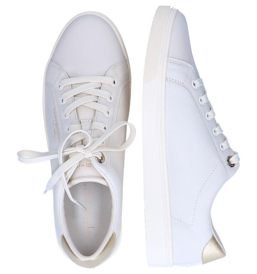 Tommy Hilfiger Ecru Sneakers in leer (295211)