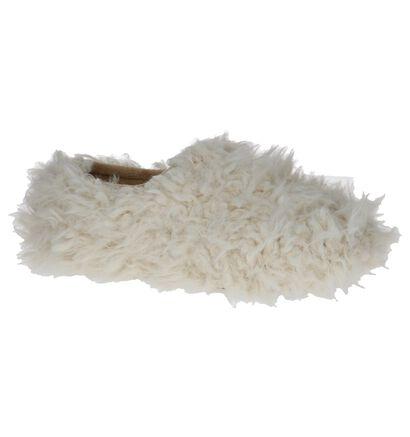 Hampton Bays Jaca Pantoffels Ecru in faux fur (232362)