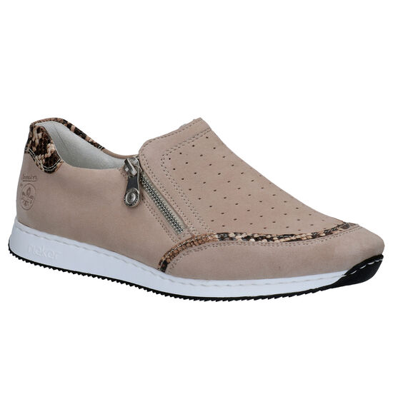 Rieker Chaussures slip-on en Taupe