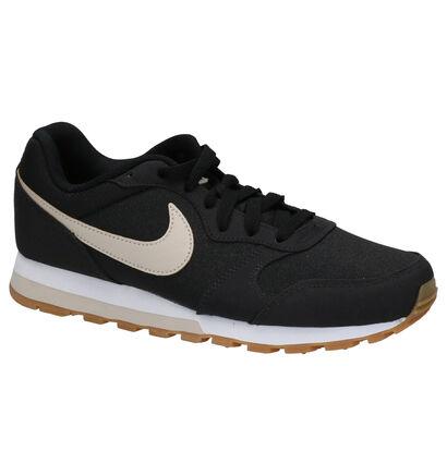 Nike MD Runner 2 Zwarte Sneakers in stof (261678)