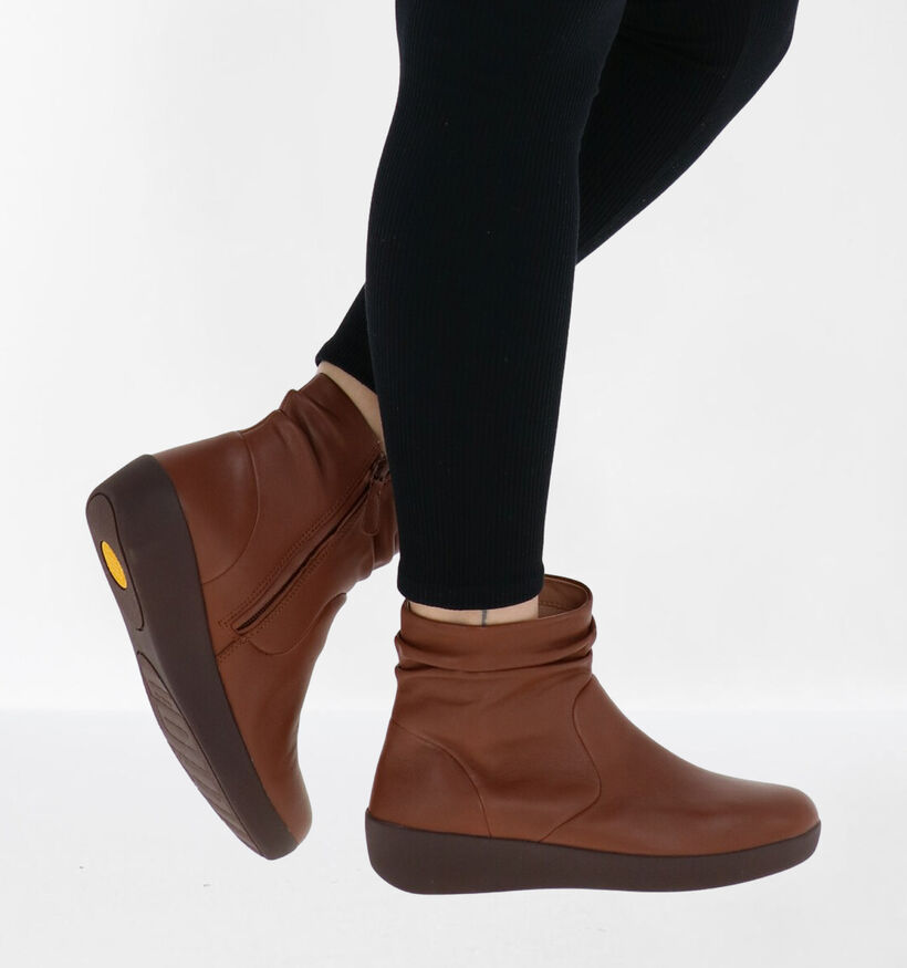 FitFlop SkateBootie Leather Cognac Enkellaarzen in leer (279825)