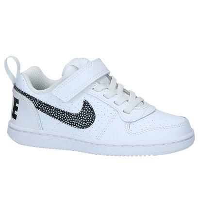 Witte Lage Sneakers Nike Court Borough in kunstleer (234337)