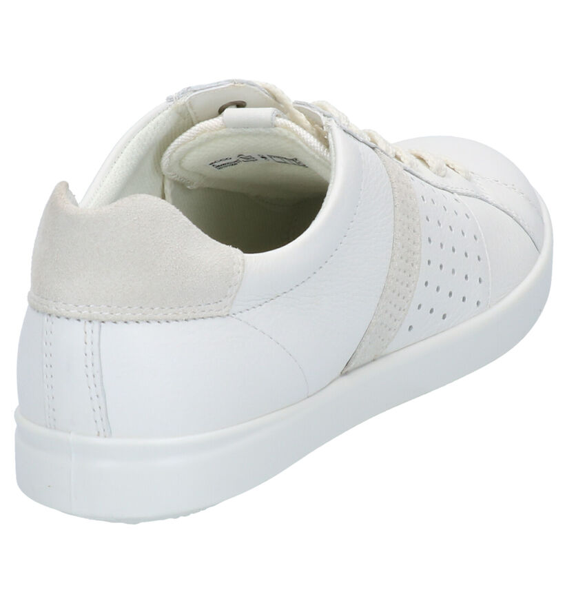 ECCO Leisure Chaussures à lacets en Bleu en cuir (275318)