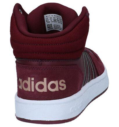 adidas Hoops 2.0 Mid Nude Sneakers in daim (252570)