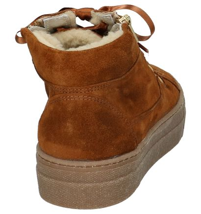Cognac Boots met Rits/Veter Hampton Bays in daim (206943)
