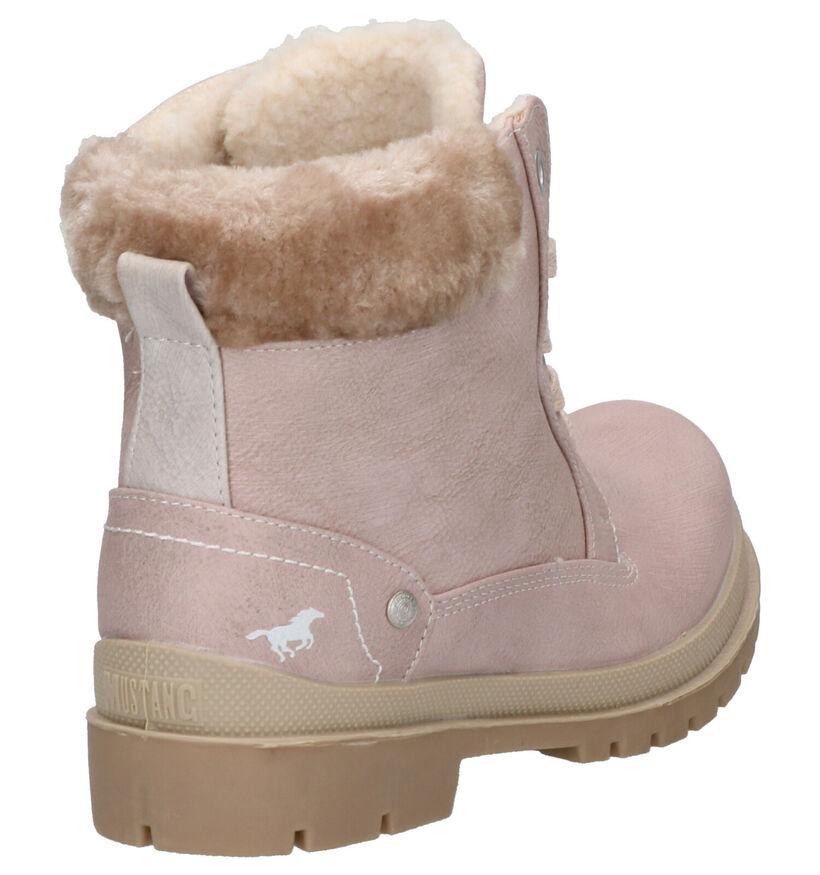 Mustang Roze Boots in kunstleer (255073)
