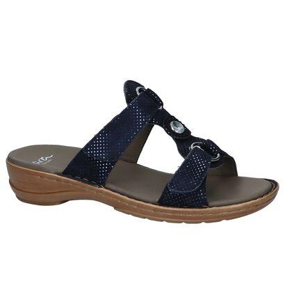 Donkerblauwe Slippers Ara Hawaii in nubuck (246502)