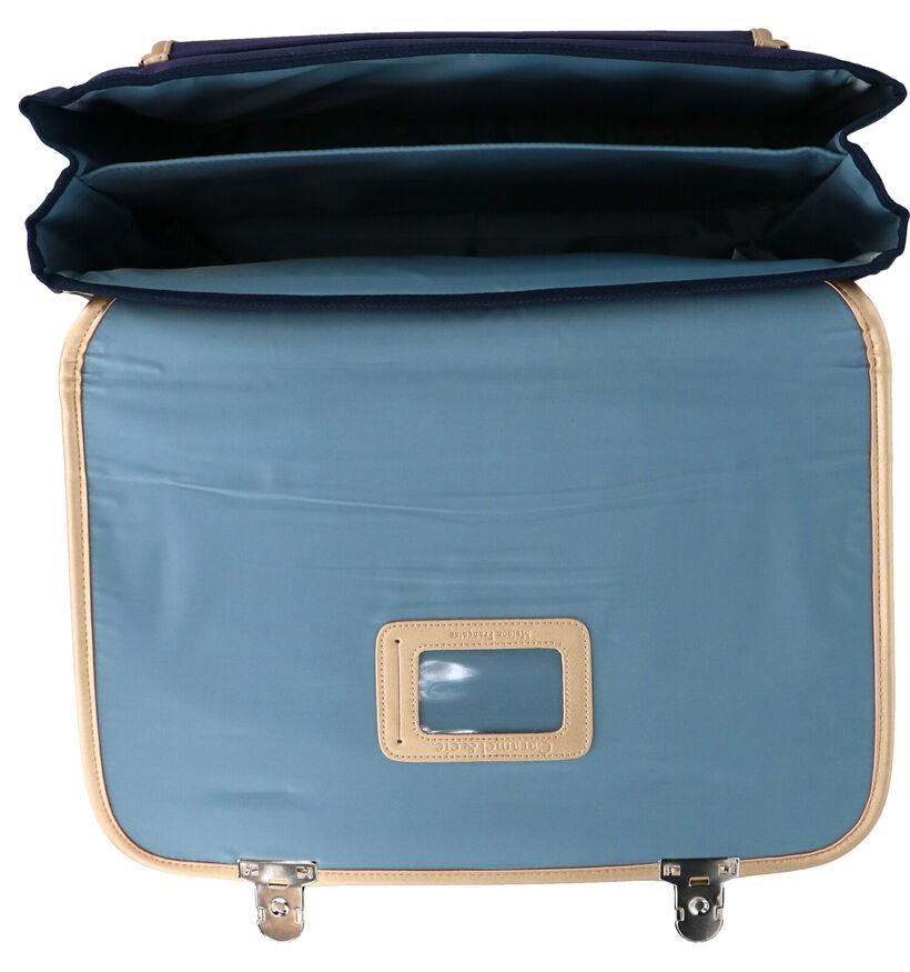 Caramal & cie. Hirondelles Cartable en Bleu en simili cuir (277368)