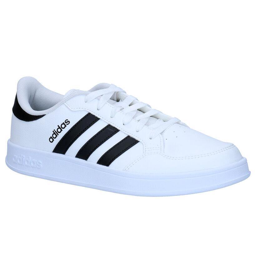 adidas Breaknet Witte Sneakers in kunstleer (284828)