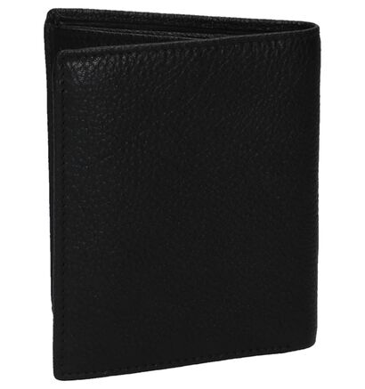 Zwarte Via Borgo Basic Billfold Portefeuille in leer (235351)