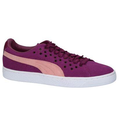 Lichtgrijze Puma Suede XL Lace Sneaker, Paars, pdp