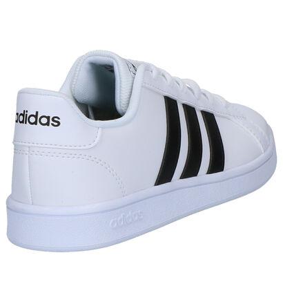 Adidas Grand Court Zwarte Sneakers in kunstleer (262040)