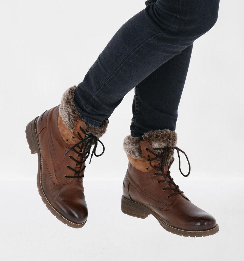 Via Limone Bruine Boots in leer (278670)